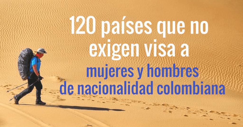 Países que no exigen visa previa a ciudadanos colombianos.