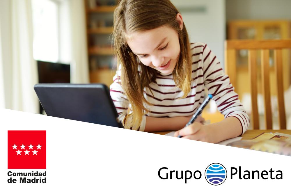 Acuerdo entre el Grupo Planeta y la Comunidad de Madrid para ofrecer los recursos y herramientas digitales de aulaPlaneta a los centros públicos y concertados de la Comunidad