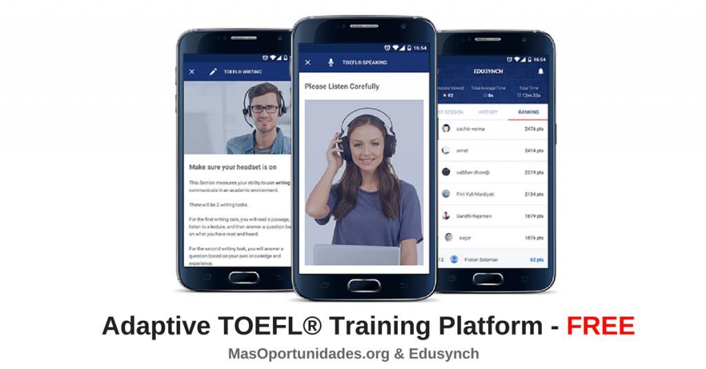 Prepara GRATIS tu examen de TOEFL® en cualquier momento, en cualquier lugar.
