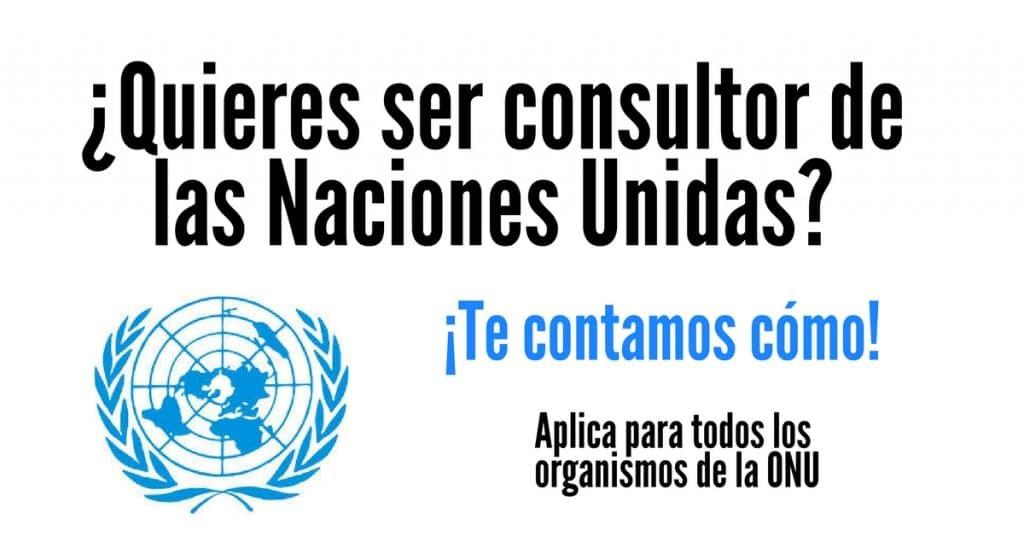 Conviértete en consultor del Sistema de las Naciones Unidas. Te contamos cómo