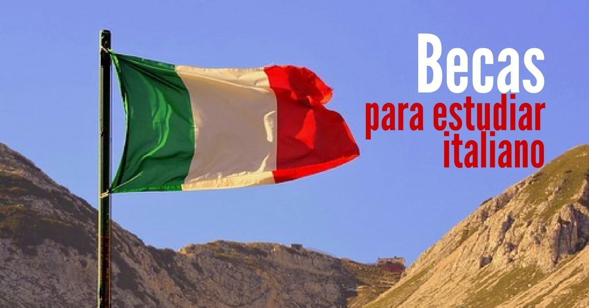 Becas para estudiar italiano en ITALIA