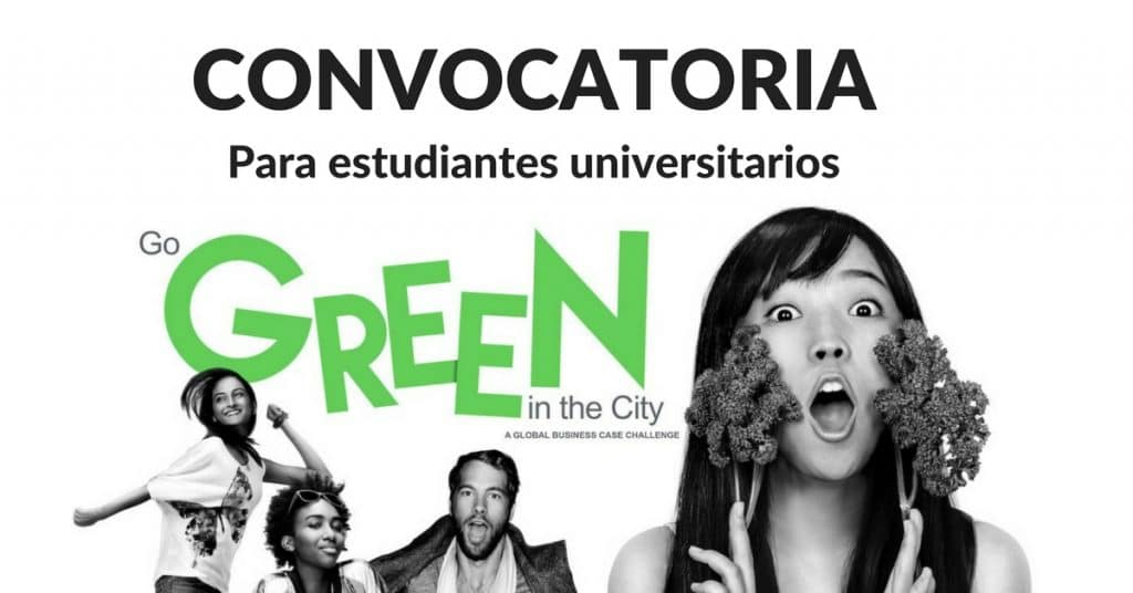 Convocatoria abierta para estudiantes universitarios Go Green in the City – Viaja con todo pago