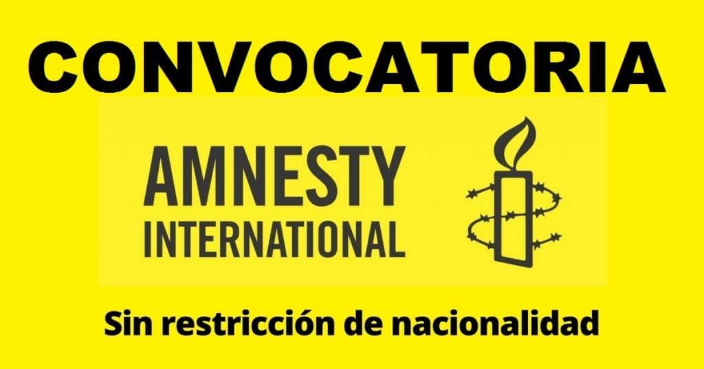 Convocatoria abierta con Amnistia Internacional