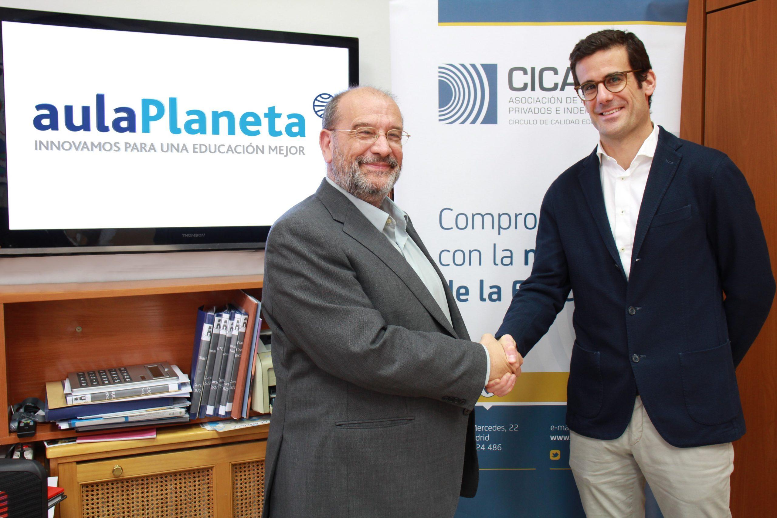 aulaPlaneta firma un acuerdo de colaboración con CICAE, la Asociación de Colegios Privados e Independientes