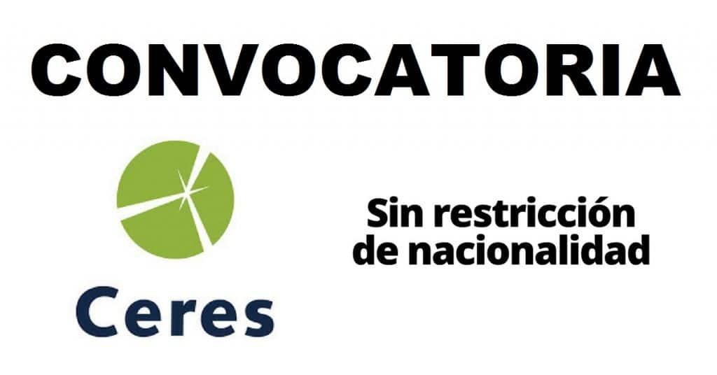 Convocatoria internacional en sostenibilidad con la organización Ceres