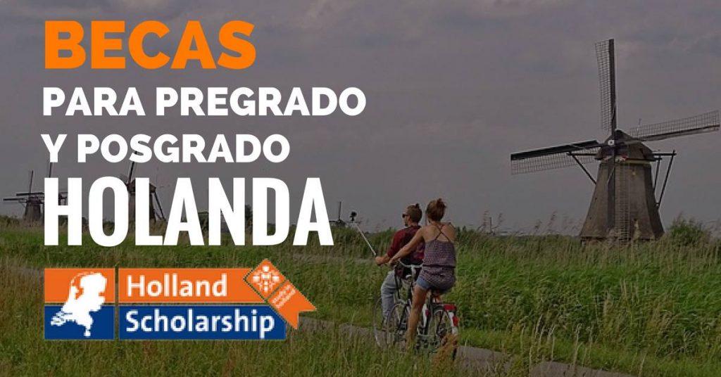 Beca para pregrado o posgrado en Holanda para estudiantes internacionales.