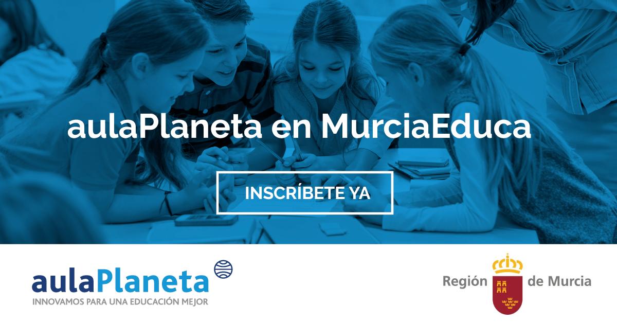 Los alumnos de primaria y secundaria de la Región de Murcia podrán acceder de forma gratuita a los recursos digitales de aulaPlaneta