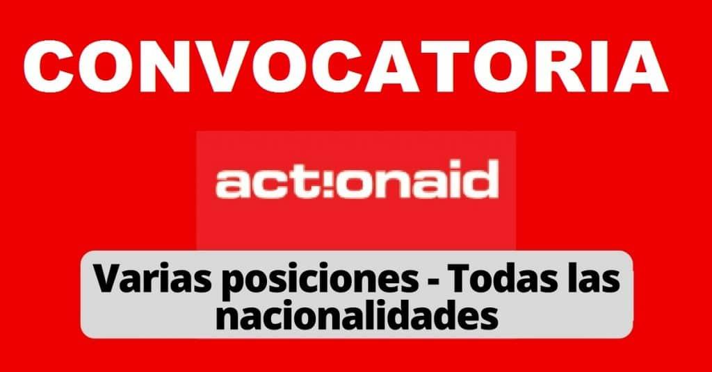 Convocatoria internacional con la organización Actionaid